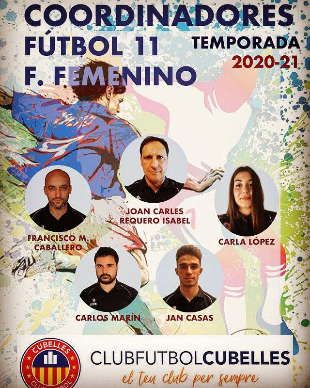 PRESENTEM EQUIP COORDINACIÓ FUTBOL 11 Y FEMENÍ TEMP. 20-21
