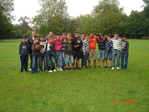 El grupo en el parque de la ciudad
