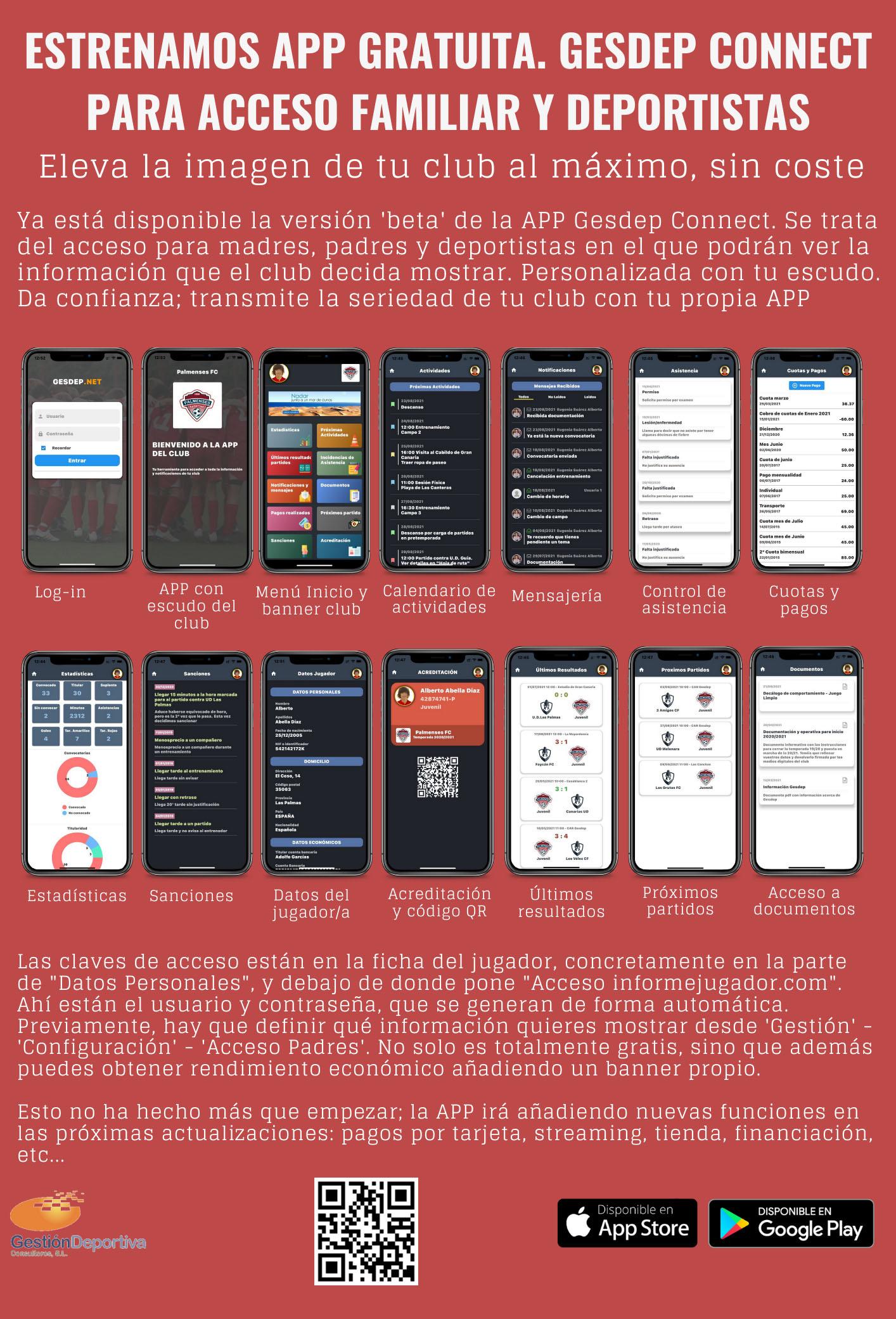 COMUNICADO 2: Nueva app para IOS y Android