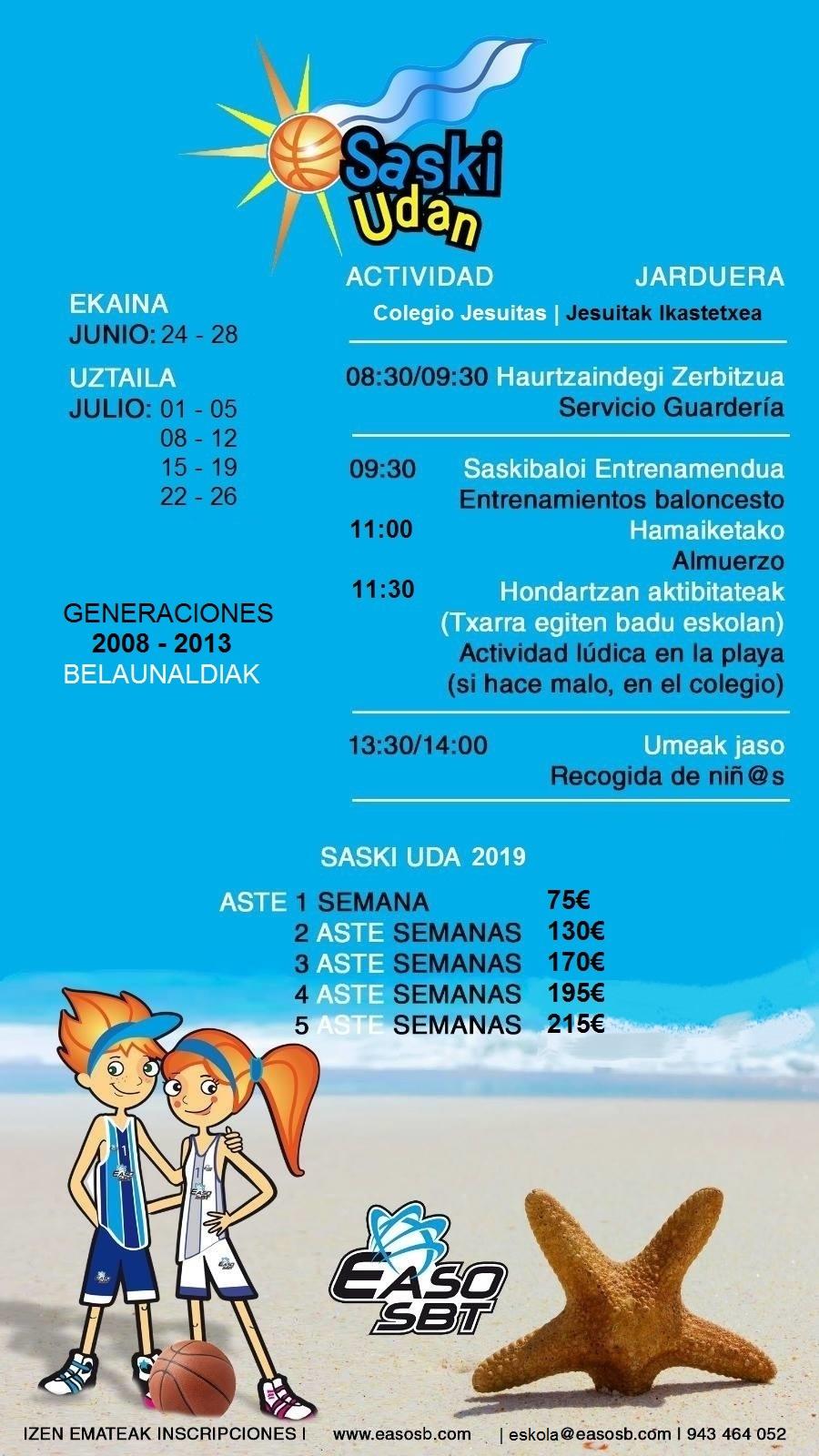 SASKI UDAN 2019   Campus de verano, ¡no te lo pierdas!