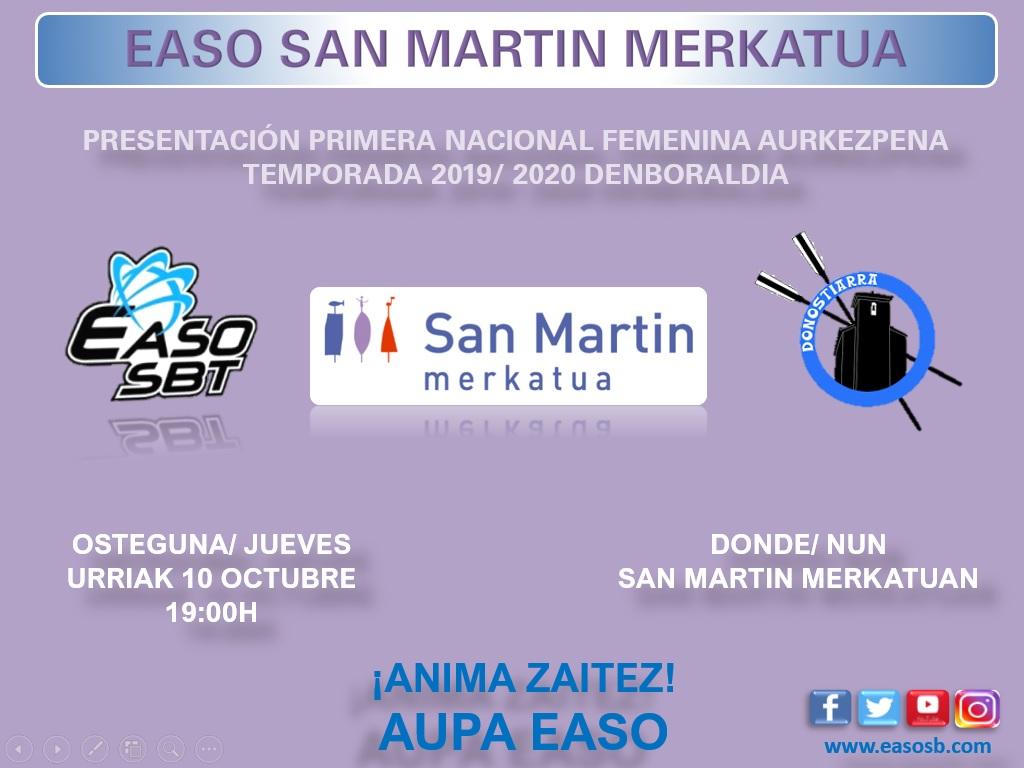 PRESENTACION 1ª NACIONAL FEMENINA | EASO MERCADO SAN MARTIN
