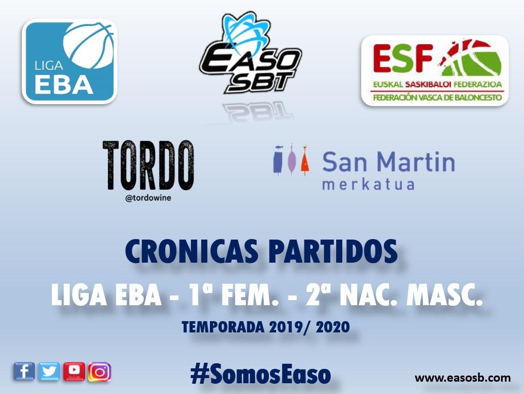 CRONICAS | LIGA EBA | 1ª NAC. FEM | 2ª NAC. MASC