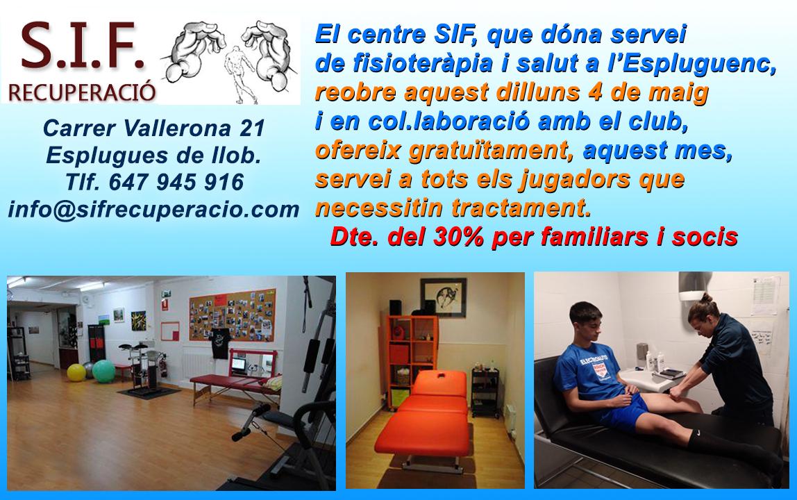 SIF ofereix servei als nostres jugadors i descomptes a familiars i socis