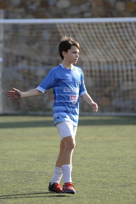 Àlex Cabré, jugador del equipo Alevín A