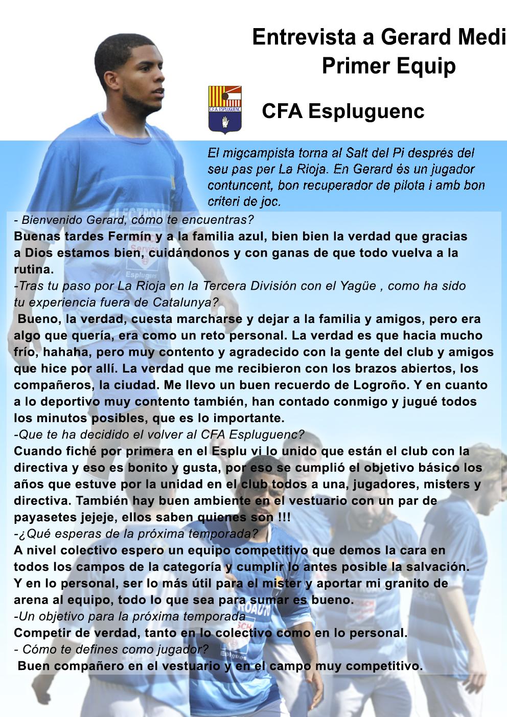 Gerard Medina, jugador de l'Amateur A