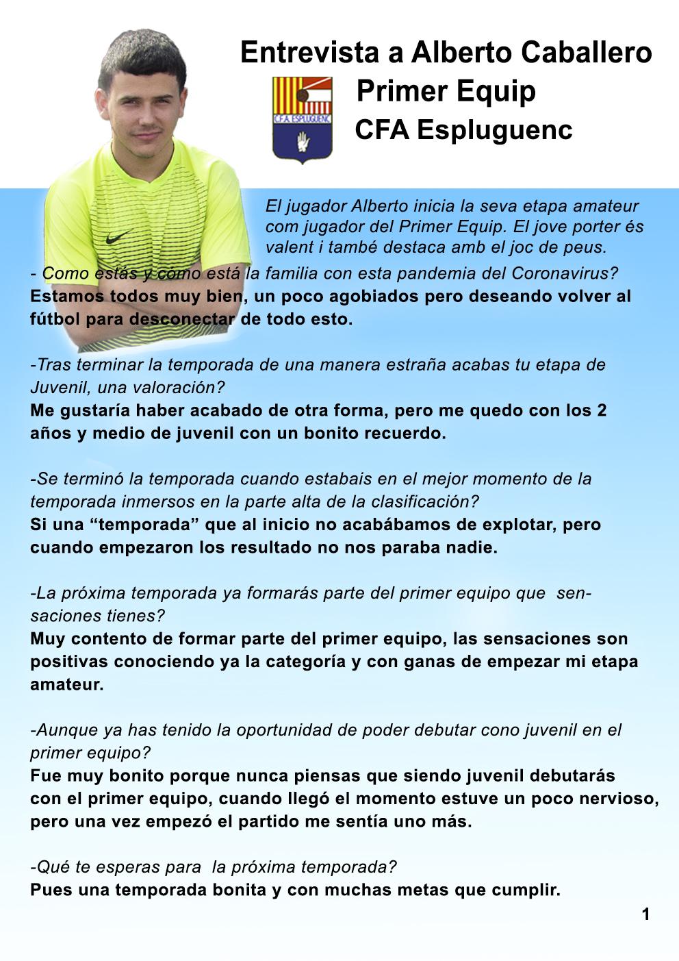 Alberto Caballlero, jugadors de l'Amateur A