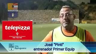 Declaracions de José Pinti, entrenador del Primer Equip, en el primer dia d'entrenament de la temporada