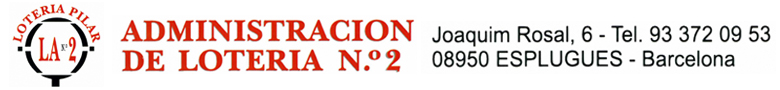 Loteria administració nº2