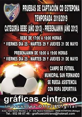 Pruebas de captación para el Club Deportivo Estepona