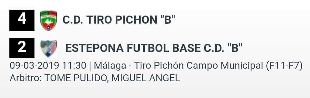 CD Tiro Pichón B 4-2 Benjamín B