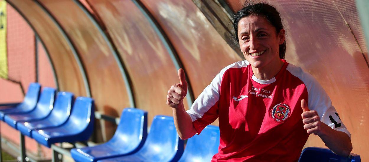 La Lourdes, jugadora del femení, ha estat notícia aquesta setmana