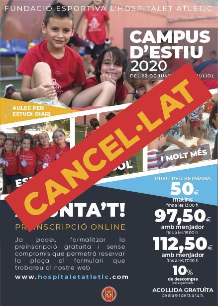 Cancel·lació Campus Juliol 2020