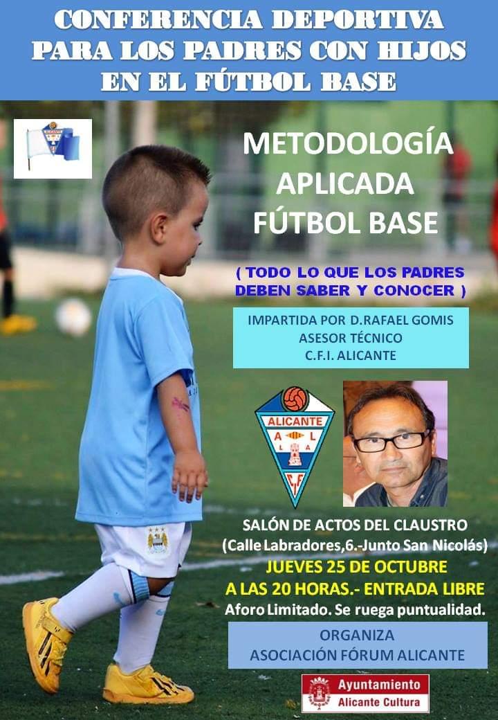Comunicado Nº 18: FUTBOL BASE. Conferencia deportiva para padres