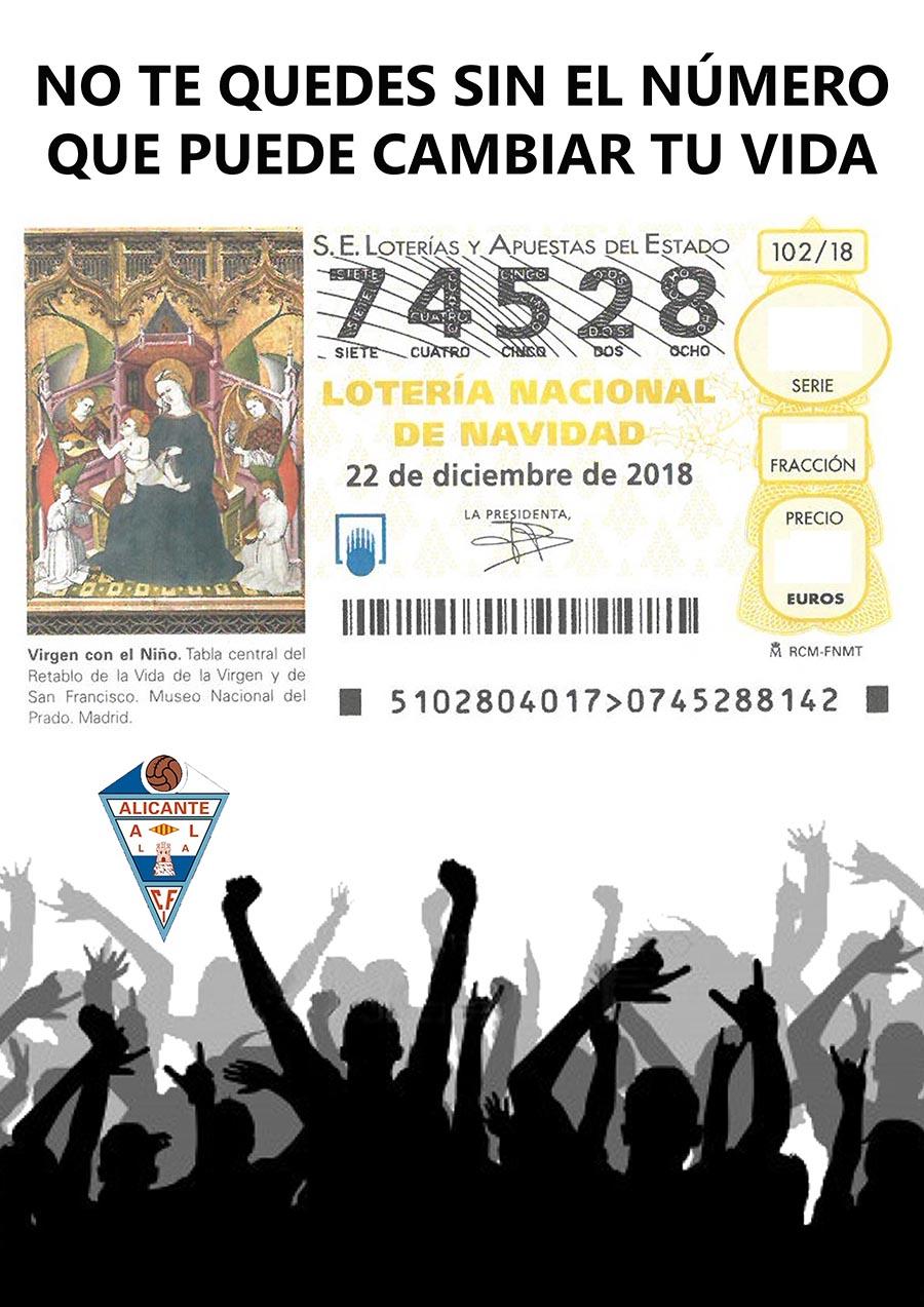 Comunicado Nº 19: Lotería de Navidad 2018