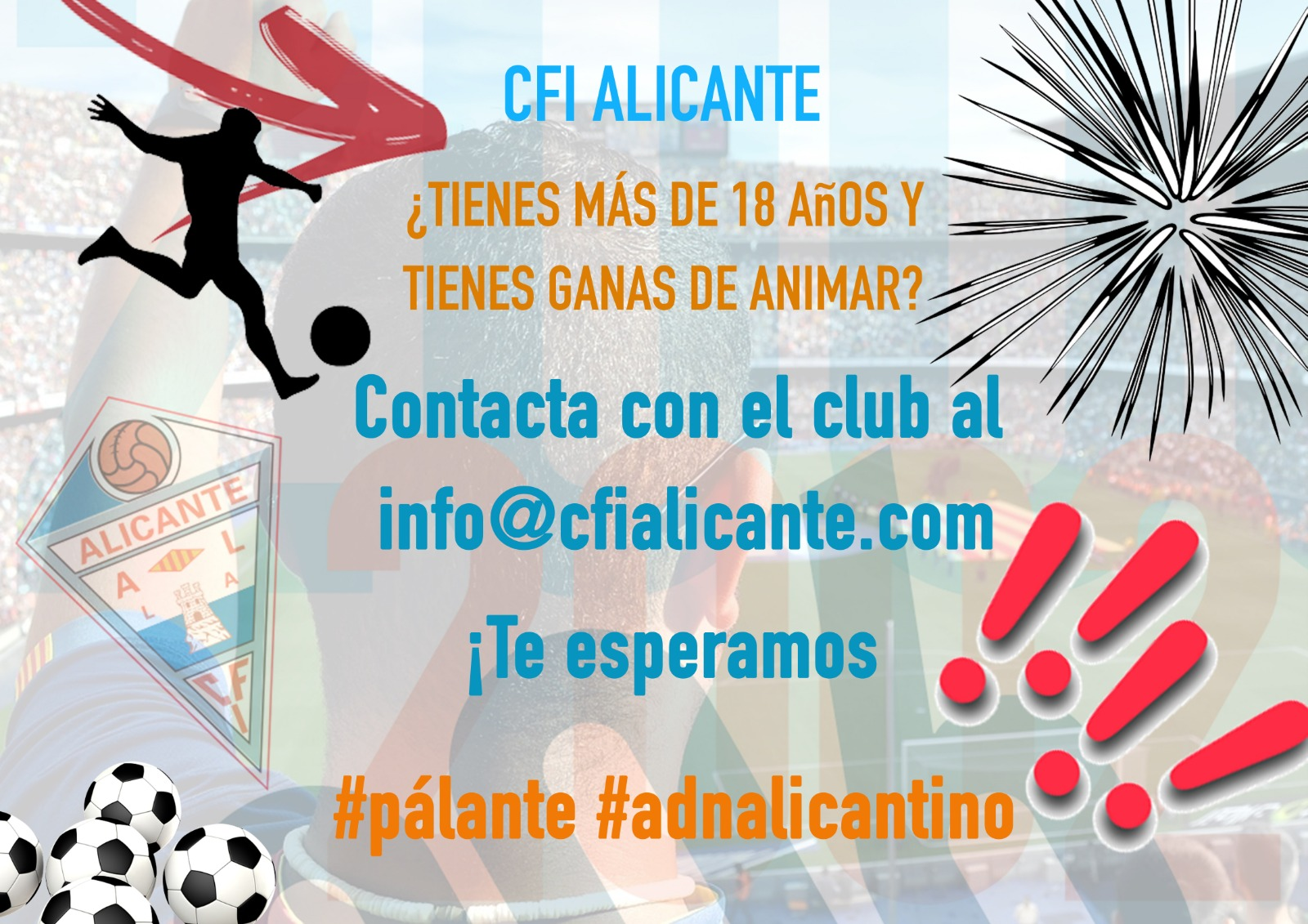 ¡Ven a animar y divertirte!