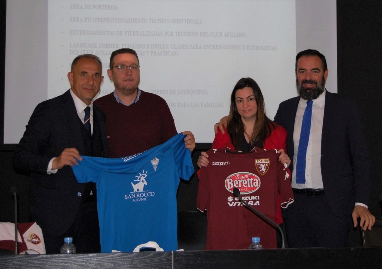 El Torino FC y el CFI Alicante unen fuerzas