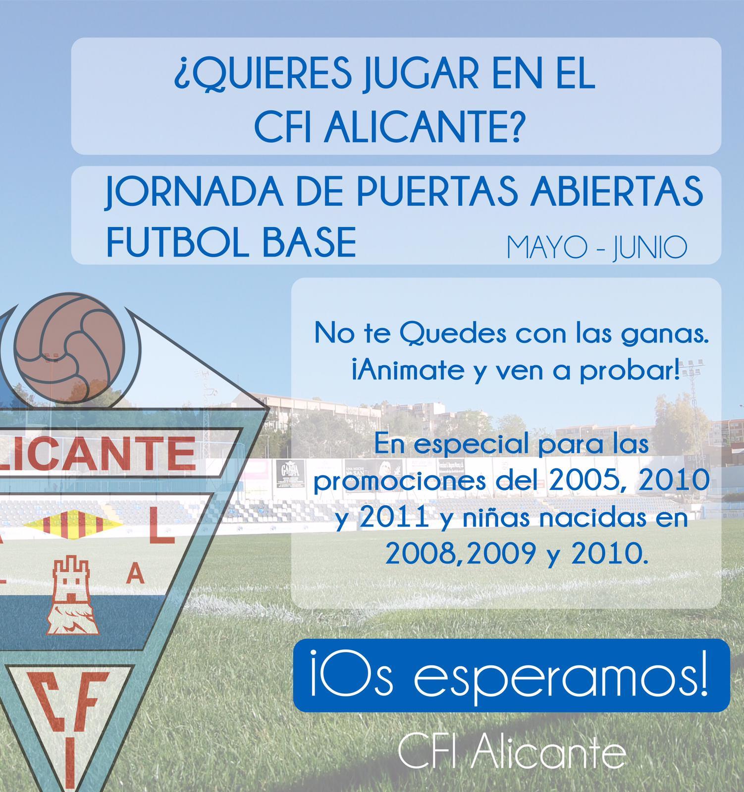 ¿Quieres jugar en el CFI Alicante?
