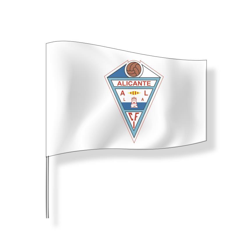 Bandera grande CFI Alicante (blanca)