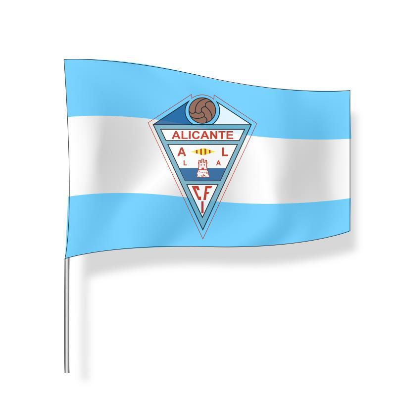 Bandera grande CFI Alicante (franjas)
