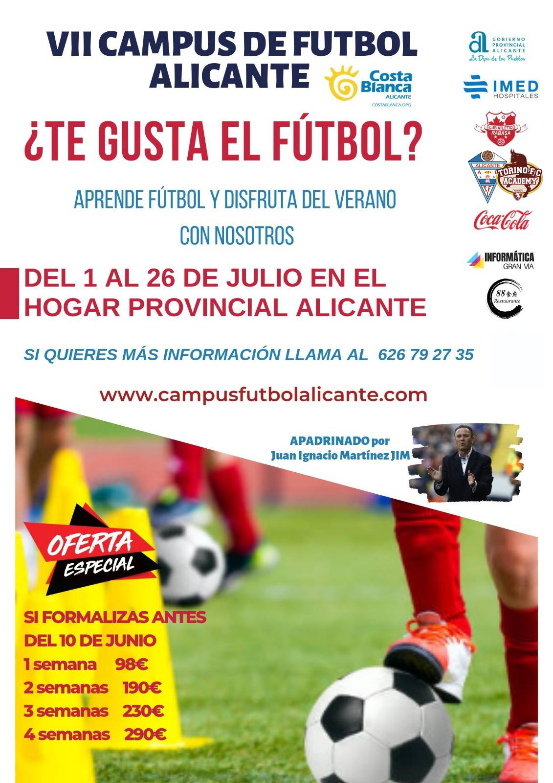 Comunicado Nº 28: Campus de Fútbol Alicante
