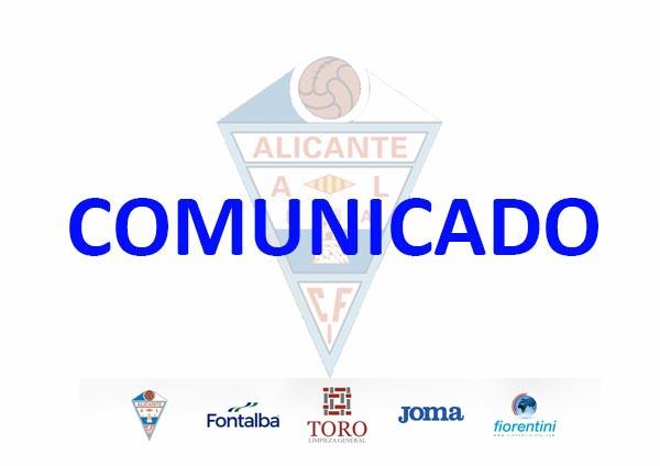 Listado de renovaciones y bajas del CFI Alicante para el curso 19/20