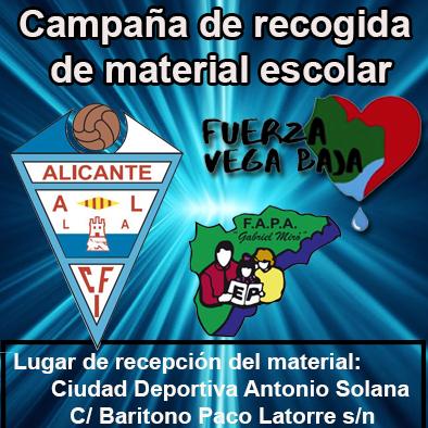 El CFI Alicante organiza una campaña de recogida de material escolar para la Vega Baja
