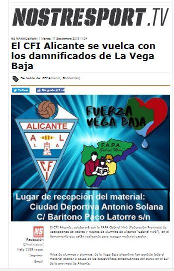 El CFI Alicante con La Vega Baja
