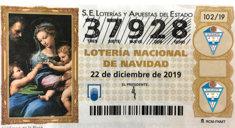 Lotería de Navidad del CFI Alicante