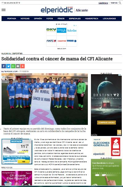 Un CFI Alicante solidario