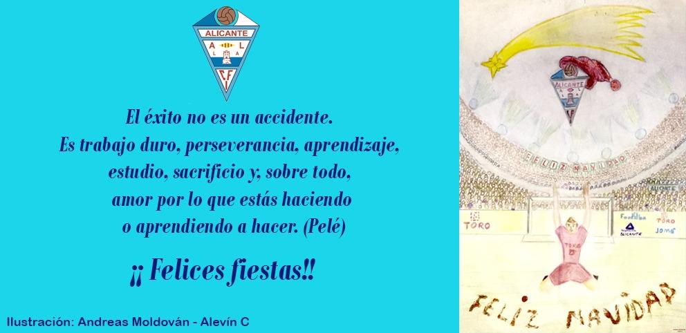 Felices fiestas a toda la familia del CFI Alicante