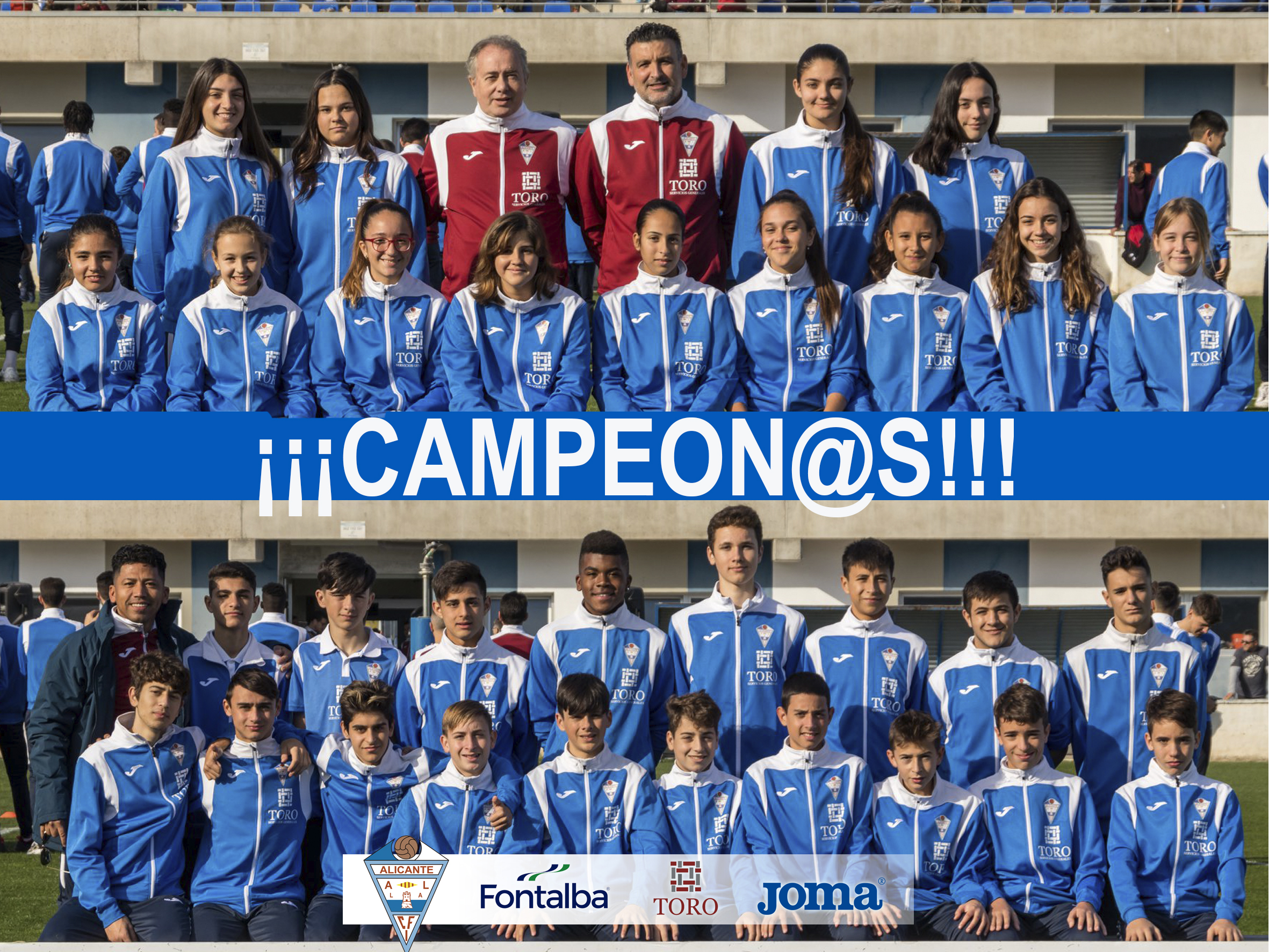 El Femenino -16 y el Cadete B ¡Campeon@s!