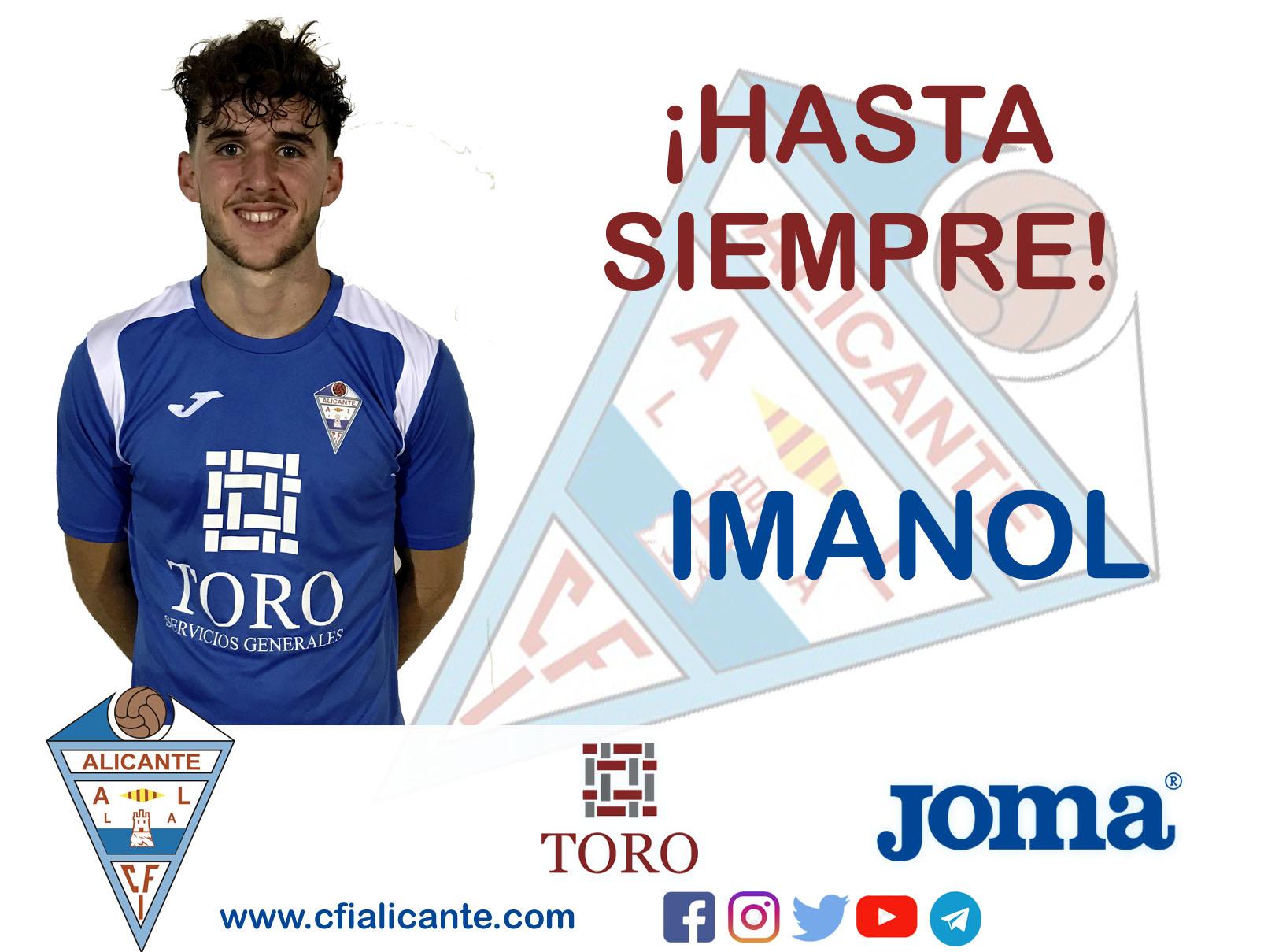 Imanol deja la disciplina del CFI Alicante