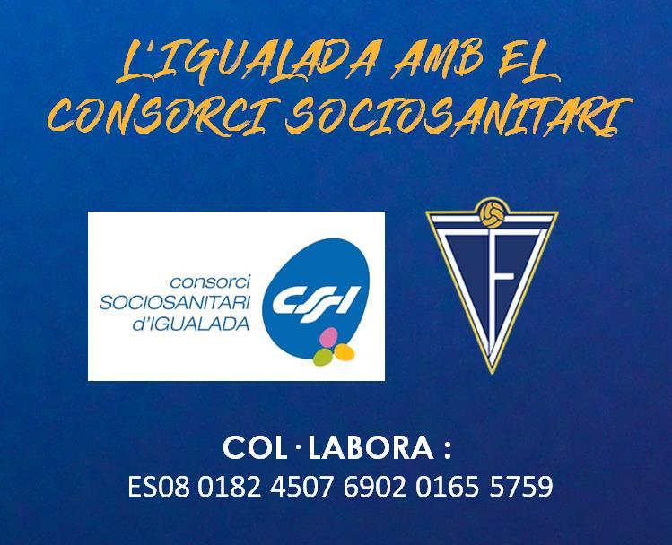 EL CF IGUALADA AMB EL CONSORCI SOCIOSANITARI D'IGUALADA!