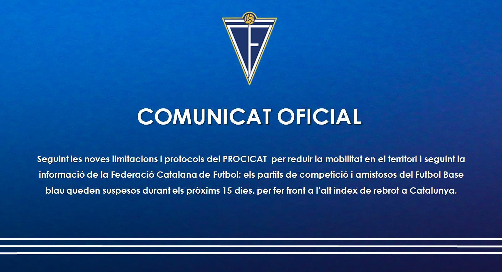 ATURADA COMPETICIONS FUTBOL BASE