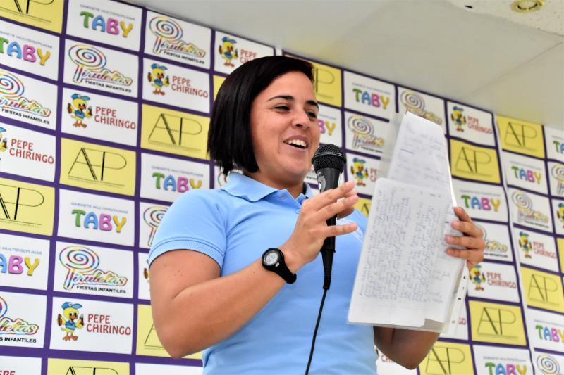 Exposición de nuestra entrenadora, Carla Hernández para ésta temporada de su proyecto