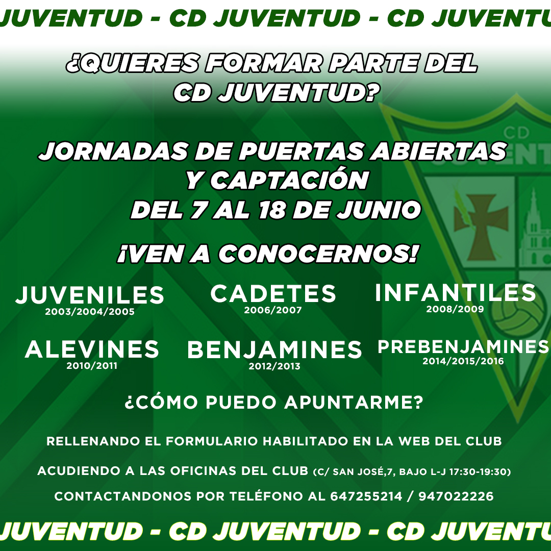 sdsJornadas Puertas Abiertas y Captación CD Juventud