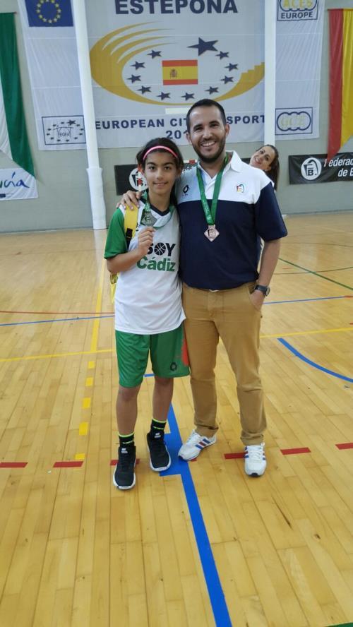 Alberto Nieto y Laura Baquero en el Campeonato de Selecciones Provinciales de Estepona