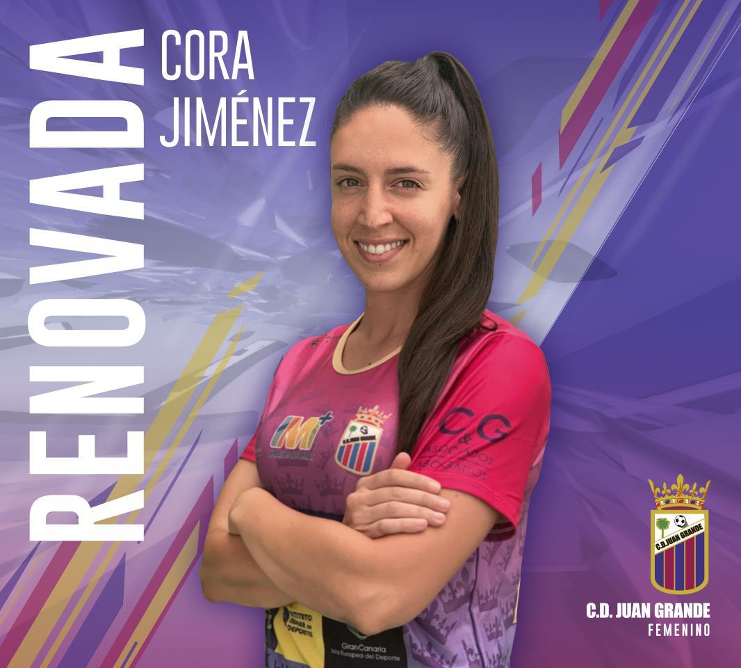 CORA JIMÉNEZ | RENUEVA SU VINCULO CON C.D. JUAN GRANDE UNA TEMPORADA MÁS