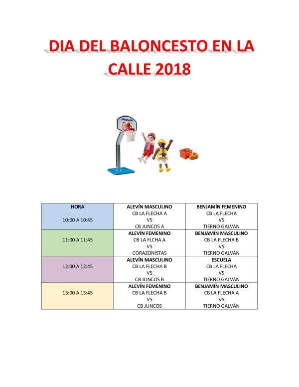 DIA DEL BALONCESTO EN LA CALLE 2018