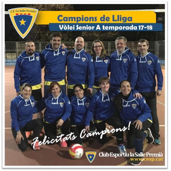 L'Equip Senior A de Vòlei del Club, Campió de Lliga!