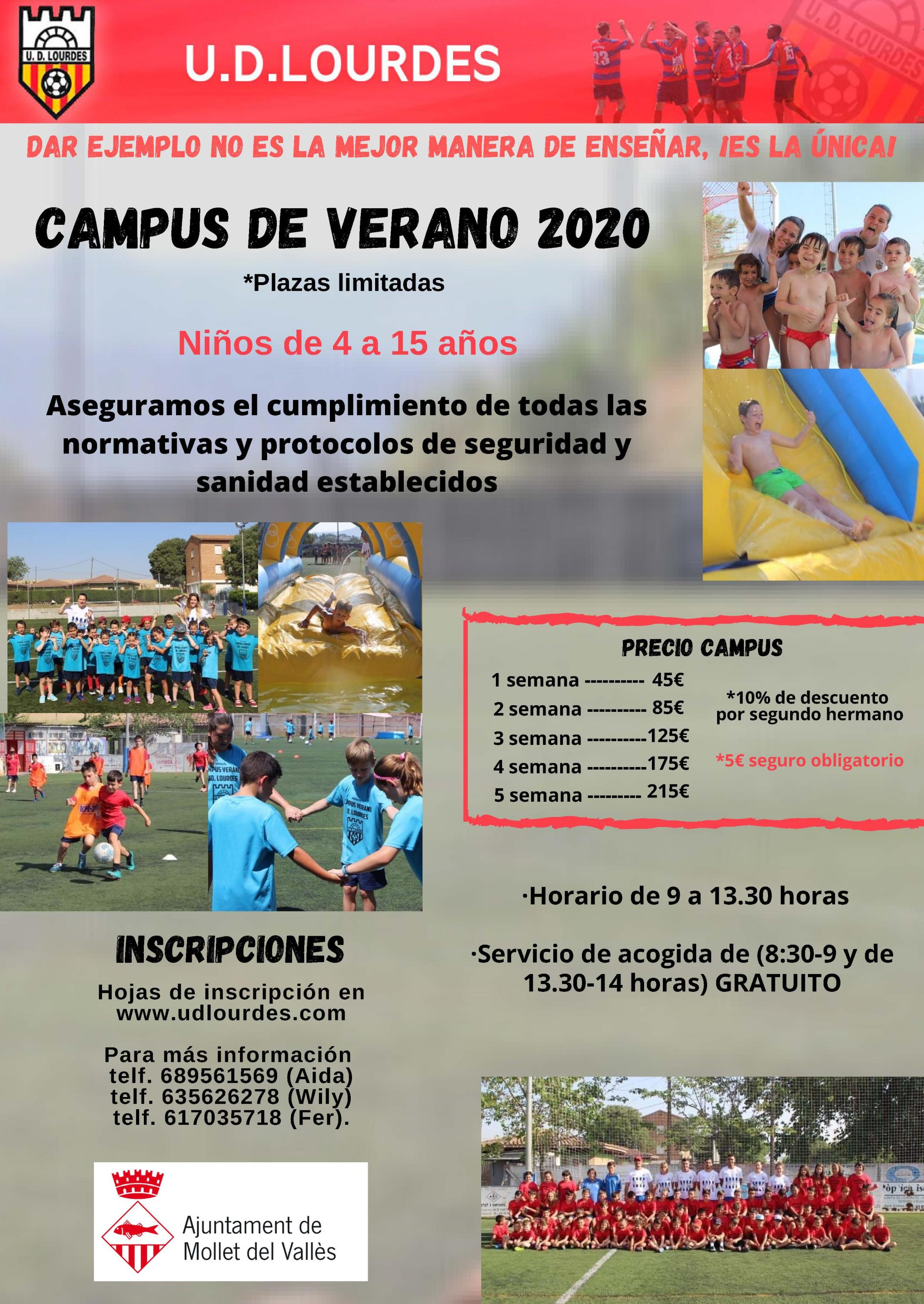 CAMPUS DE VERANO 2020 ESPECIAL CORONAVIRUS