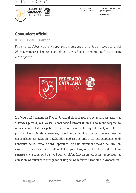 Nuevo comunicado federativo
