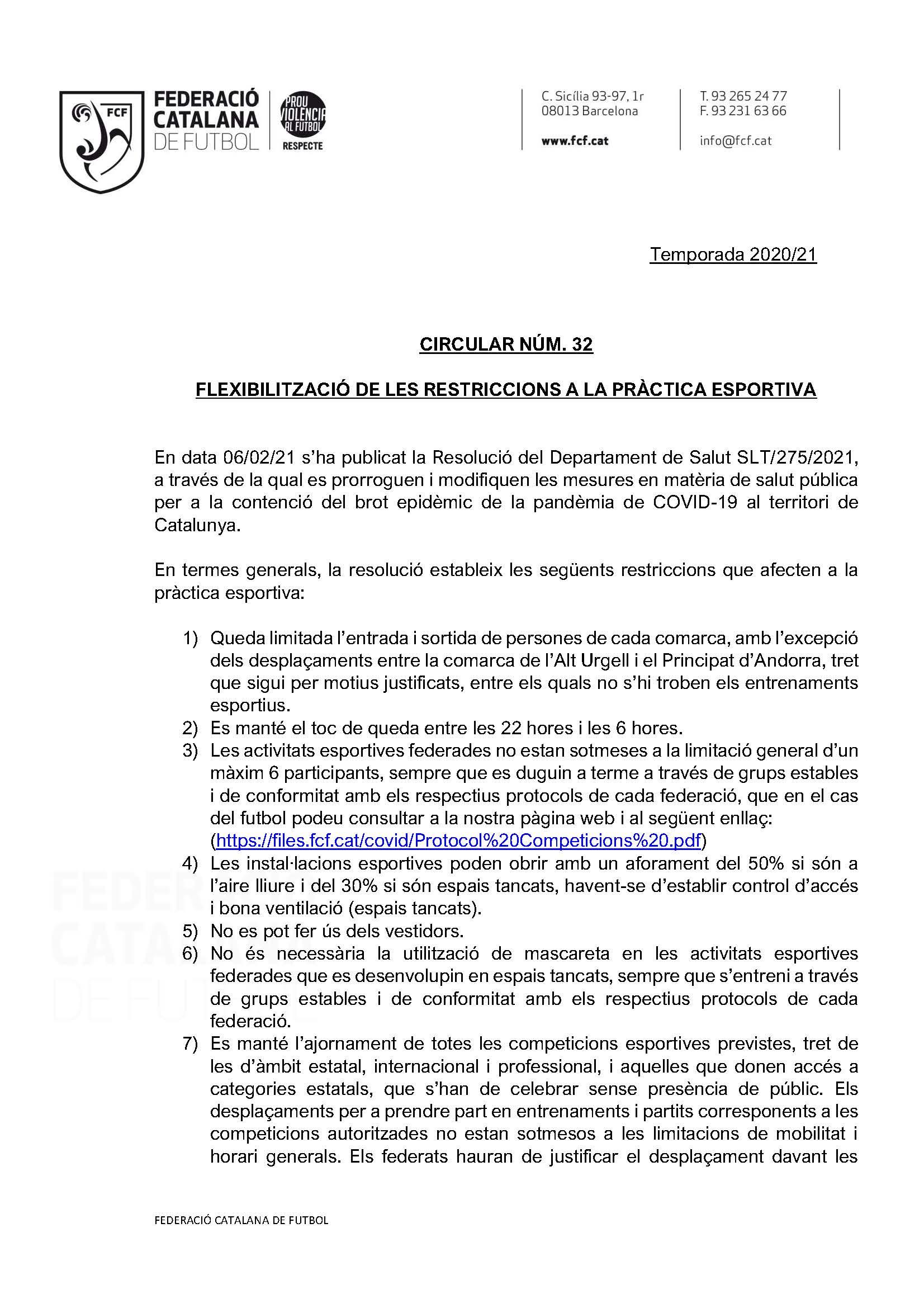 circular nº33 AUTORTIZACIÓ DE LES COMPETICIONS QUE DONEN ACCES A LES CATEGORIES ESTATALS