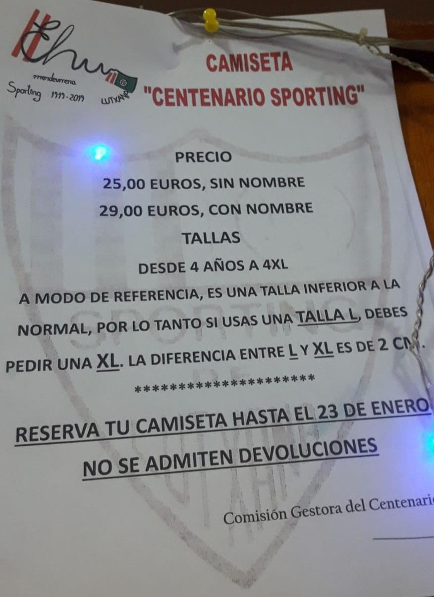 Camiseta Centenario 2019
