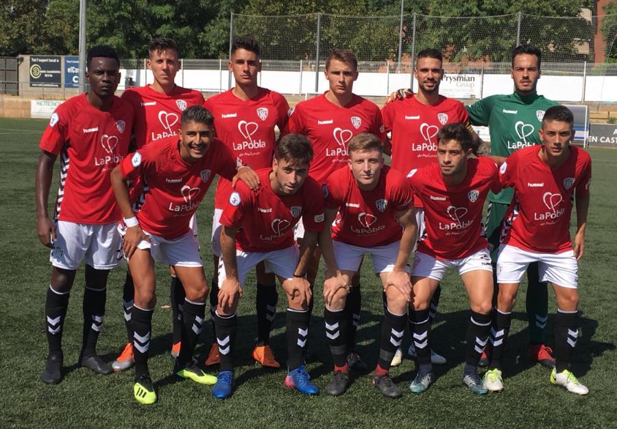 Empat a 0 entre l'UE Castelldefels i el CF Pobla de Mafumet