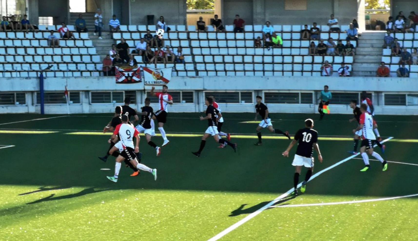 Derrota del CF Pobla de Mafumet contra el CE Hospitalet per 2-0