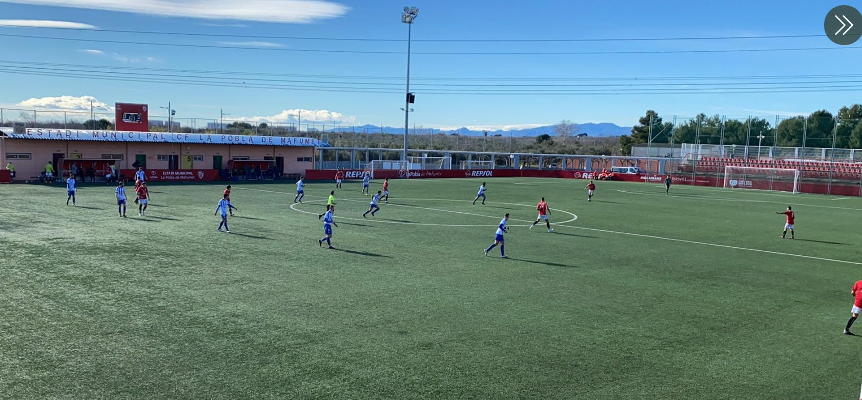 Empat a 1 entre el CF Pobla de Mafumet i el Santfeliuenc FC