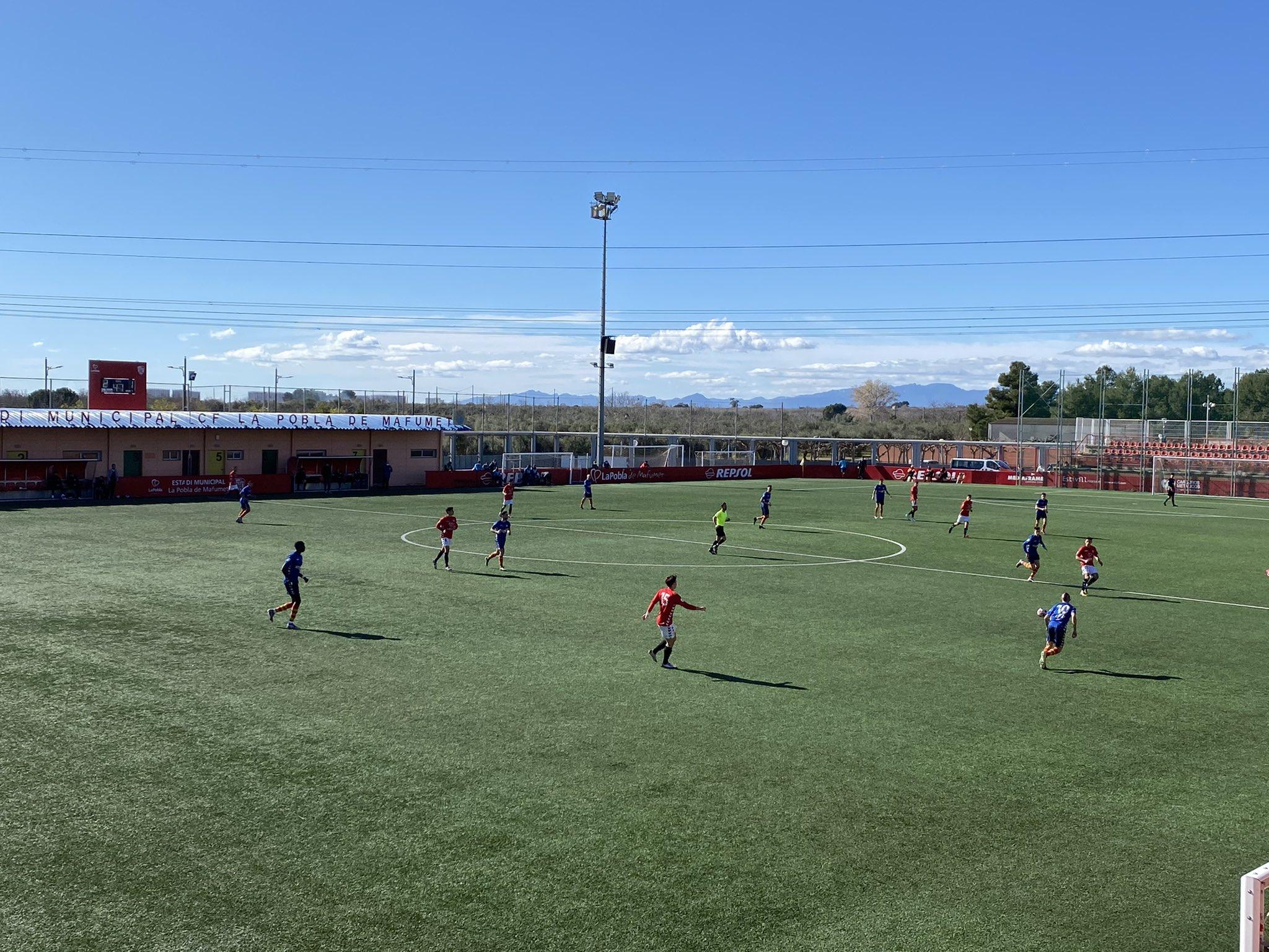 Empat a 2 entre el CF Pobla de Mafumet i el FC Vilafranca