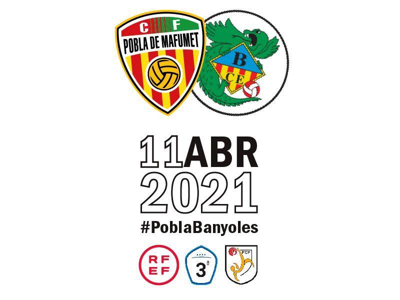 Aconsegueix la teva entrada pel partit entre el CF Pobla de Mafumet i el CE Banyoles