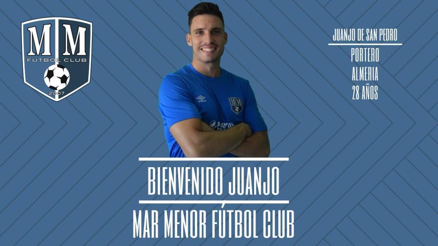 Juanjo De San Pedro nuevo jugador de Mar Menor Fútbol Club.